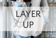Layer Up / Layering pieces for our collections. Perfect fall transitions..