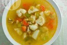 Sopas / Receitas selecionadas de sopa de legumes, sopa de ervilha, caldo verde, sopa creme, canja e muito mais!