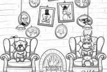 """Aktien für Anfänger / Unsere Karikaturen (Bulle und Bär) holen das nach, was deine Sozialkunde- und Wirtschaftslehrer versäumt haben: Finanzielle Grundbildung im Bereich """"Aktieninvestments""""!  Gegen Hamsterräder und Unterdrückung! :D"""