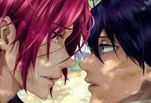 Rin ♥ Haru / Animé : Free (Non yaoï)