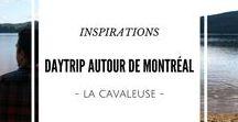 Escapade d'une journée autour de Montréal / Allez! Partez à la découverte de ce qui se cache autour de Montréal et au Québec!  Ce tableau se veut comme un lieu d'inspirations d'activités et de sorties pour partir à l'aventure ne serait-ce qu'une journée! Découvrez des idées de voyages, d'activités, d'itinéraires et d'escapades autour de Montréal.
