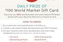 WorldMarket.com PIN IT Contest / by Alicia Hazen
