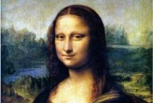 "smile Mona Lisa / ""it had long since come to my attention  that people of accomplishment rarely sat back  and let things happen to them.  they went out and happened to things."" - leonardo da vinci   / by Laurie P Cotros"
