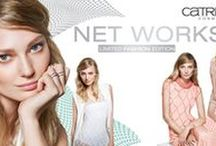 "CATRICE NET WORKS - Limited Edition / Mesh matters. Whether as an all-over variety, in the shape of intricate and larger mesh structures or as part of sophisticated layer looks – net fabrics are one of the trends of the Spring/Summer Season 2016. New this summer: casual sportswear adaptations with feminine, elegant silhouettes. We're transferring this trend to the beauty world with the Limited Edition ""Net Works"" by CATRICE."