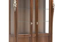 Glass Cabinets - Vitrine Living Room / Vitrine din lemn masiv special create pentru ambiente rafinat de clasice