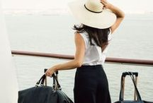 Women's Flying Fashion / Airplane Fashion outfits and designer wear for every travelling woman.