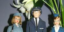 Airline Toy Dolls / Beautifully crafted Ken and Barbie like toy dolls resembling airline crew and flight staff