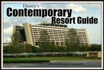 Disney's Contemporary Resort - A Deluxe Walt Disney World Resort near the Magic Kingdom / A Deluxe Resort located near the Magic Kingdom. Resort maps, discount codes, savings, information, room layout, resort guides, tips, fun facts, dining, menus, food, photos, room rates, vacation packages, recreation, pools, kid's activities, and other important information to help you plan your Disney vacation.  Walk to the Magic Kingdom or ride the monorail that travels through this resort.