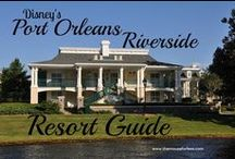 Disney's Port Orleans Riverside Resort - A Walt Disney World Moderate Resort / A Moderate Resort located near Epcot. Resort maps, discount codes, savings, information, room layout, resort guides, tips, fun facts, dining, menus, food, photos, room rates, vacation packages, recreation, pools, kid's activities, and other important information to help you plan your Disney vacation. Stay in Alligator Bayou or the mansions section.  Walk to Port Orleans French Quarter.  Take a boat to Downtown Disney / Disney Springs.
