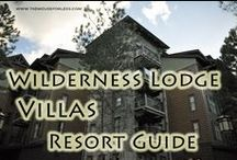 Villas at Disney's Wilderness Lodge - A Walt Disney World Deluxe Villa Resort / A Deluxe Villa Resort located near the Magic Kingdom. Resort maps, discount codes, savings, information, room layout, resort guides, tips, fun facts, dining, menus, food, photos, room rates, vacation packages, recreation, pools, kid's activities, and other important information to help you plan your Disney vacation. Take the boat to the Magic Kingdom.  Enjoy accommodations with kitchens, laundry and more.
