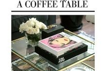 Decore: table tops / styling ideas for coffee, entry, sofa or counter tops