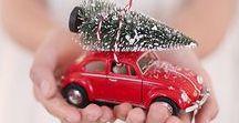 Christmas Car, truck, camper, sleigh, bike