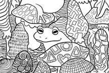 Optimimmi: Free coloring pages / Ilmaisia värityskuvia / (EN) A collection of different coloring pages from my blog. The b&w images can be printed as coloring pages -- free for *private* use. (FI) Kokoelma erilaisia värityssivuja blogistani. Mustavalkokuvat voidaan tulostaa värityssivuiksi -- ilmaiseksi *yksityiskäyttöä* varten.