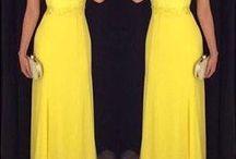 Vestidos 2017 color amarillo / Vestidos 2017 color amarillo http://beautyandfashionideas.com/vestidos-2017-color-amarillo/