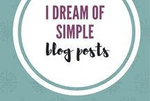 i Dream of Simple Blog / Posts from my blog i Dream of Simple.  I write about decluttering your space, time and mind.  Simple living   minimalism   capsule wardrobes   simple living with kids   setting up routines.
