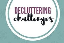 Decluttering challenges / You will find pins with various decluttering challenges, simple living challenges and minimalism challenges.