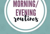 Morning + Evening Routines / Develop a simple morning and evening routine to setup your day for success.  Make over your mornings. #morningroutine