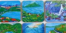 Arran landscape cards and tableware / I have created 2 sets of cards, placemats and coasters from my paintings, they make great gifts for anyone who loves Arran. Copyrights apply.