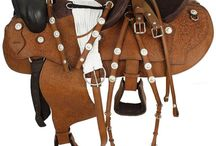 saddles and outfits to ride in