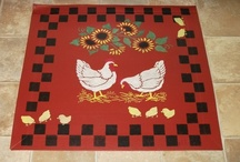 Hand painted floorcloths / by Robin Tigli