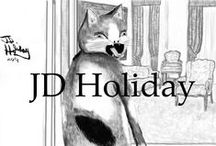 JD Holiday's Artwork / Paintings and drawings by JD  http://www.thebookgarden.net