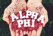 Alpha Phi / Something Greek specializes in sorority clothing for Alpha Phi. We have Alpha Phi recruitment shirts, bid day sweatshirts,letter key chains, picture frames, screenprinting ideas, custom greek apparel for Alpha Phi, and much more!  http://somethinggreek.com/shop/alpha-phi.asp