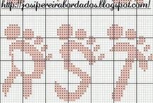 Punto de cruz - Abecedarios - / by Eva Sánchez