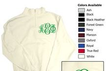 Monograms! / Monogram Monogram Monograms! We know sorority's love monograms so here are some products you can find at Something Greek and ideas you can definitely come to us to make happen!