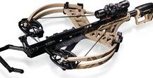 crossbow and bow