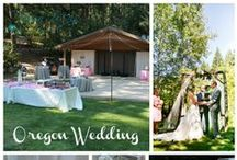 Oregon Wedding / Tori & Jered were married in a gorgeous backyard setting 20 minutes outside of Corvallis Oregon. There were lots rustic elements as well as fun elements like a smores' station and an Italian Soda Station.