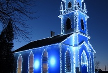 Christmas Blue / Blue is the color of tranquility, bringing peace on earth. / by Donna Grant