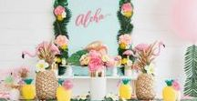 Luau Party Ideas / May is National Luau Month! Get inspired with these luau party ideas from Oriental Trading.