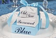 Blue Wedding Ideas / Make your blue wedding brilliant with blue wedding decorations, blue wedding favors and blue candy buffet ideas.