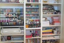 Craft Space & Organization / Craft Supply organization and rooms