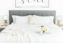 Bedroom Oasis / You spend 1/3 of your life sleeping, so do it well. Create an oasis in which you can retreat at the end of each day. From luxurious bedding and a plethora of throw pillows, your bed should be a comfortable expression of you. Browse lighting fixtures and artwork, pillows, head boards, mirrors, and faux plants to tie your bedroom together. Shop Hudson and Vine for beautiful bedroom decor ideas no matter what your style or budget.