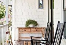 Front Porch Decor / It's not just the first thing they see, it's a retreat for you. Make your front porch all you dreamed it would be with this decorating ideas from Hudson and Vine.