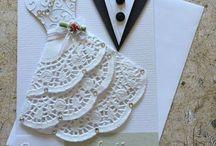 Bröllops kort/ inbjudningar