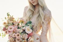 Pretty in Pink / Blush coloured wedding dresses