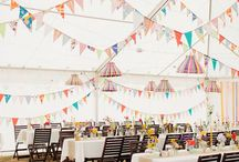 Beautiful Bunting / How to incorporate and use bunting in your wedding decor