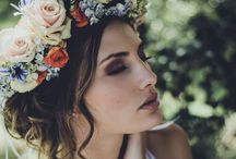 Pretty Flower Crowns / Flower crowns for the boho chic bride.