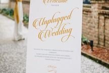 Unplugged Wedding / Pretty signs to politely request that your guests refrain from social media during your wedding ceremony.