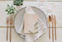 Modern Minimalist Wedding / Keeping it simple with a sleek, modern twist
