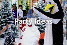 Party Ideas / Here are some Dubai party ideas using artificial snow and artificial ice products. Perfect for kids birthday parties, Christmas parties winter wonderland, and any other types of parties. Check our webshop to see the products that were used: www.snowsouq.com