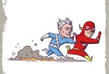 Herois e vilões da DC e MARVEL