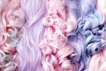 HAIR: Hair Inspiration / White blonde lilac locks brash babes with crayon coiffs.