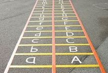 Classroom Floor Marking / Ideas about various ways to mark the floors of classrooms. Great board for teachers, especially preschool, kindergarten, and early elementary teachers, to get ideas about educational games that use the floor or the pavement. We manufacture floor marking tapes, playground stencils, and pavement marking tapes and signs. These classroom floor markings are also great to direct students about where to sit, stand, or line up.