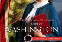 PATIENCE, BRIDE OF WASHINGTON / AMERICAN MAIL-ORDER BRIDE SERIES set in 1890 Victorian America contains 50 books from 45 authors. Mine is PATIENCE, BRIDE OF WASHINGTON. Inspirational, Victorian, Western Historical,sweet, Washington