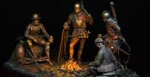 Dark Ages / Medieval European knights and mercenaries collectible miniature soldiers.