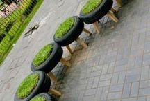 Sitzplätze I Hauptstadt Garten / Alles worauf man im Garten toll sitzen kann. mauern, Hocker, Sofas, Bänke, Loungemöbel, Matten, Teppiche, Matratzen, etc.