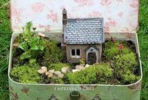Feengärten I Hauptstadtgarten / Hier findet Ihr viele Inspirationen zu fairy gardens (auf Deutsch heißen sie Feen Gärtchen oder Miniatur oder Minigärten.)